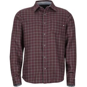 Marmot Fairfax Midweight Flannel LS Shirt Men, burgundy